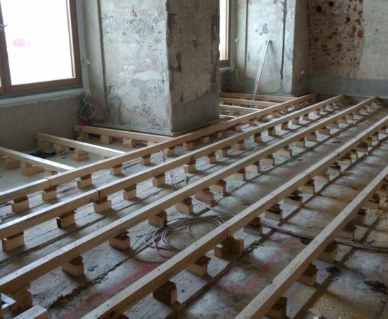 Fußbodenaufbau ohne Schadstoffe