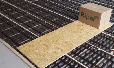Trockensystem Ripal Fußbodenheizung