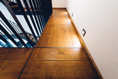 Eichendielen Sockelleisten Wasserwerk - Treppe