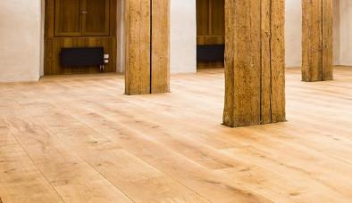 Weiße Holzboden aus Eiche