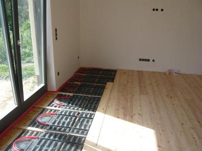 Holzboden Fußbodenheizung