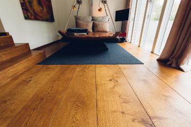 Holzboden Fußbodenheizung Eiche