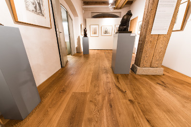 Holzdielenboden auf Fußbodenheizung